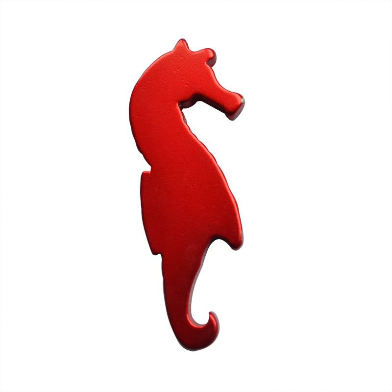 seahorse shape open beer bottle with fridge magnet