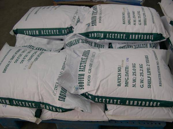 Food Grade Preservative Sodium Acetate Anhydrous