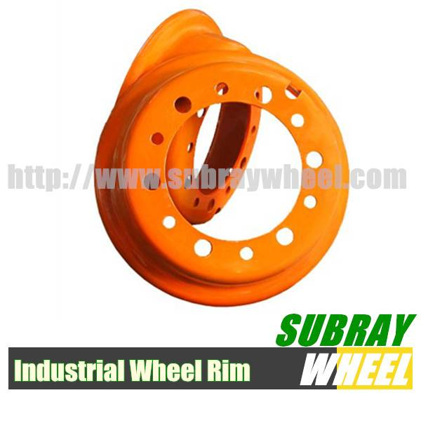 Forklift rims for solid resilient tyre
