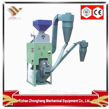 Combined rice mill plant with double disk mill