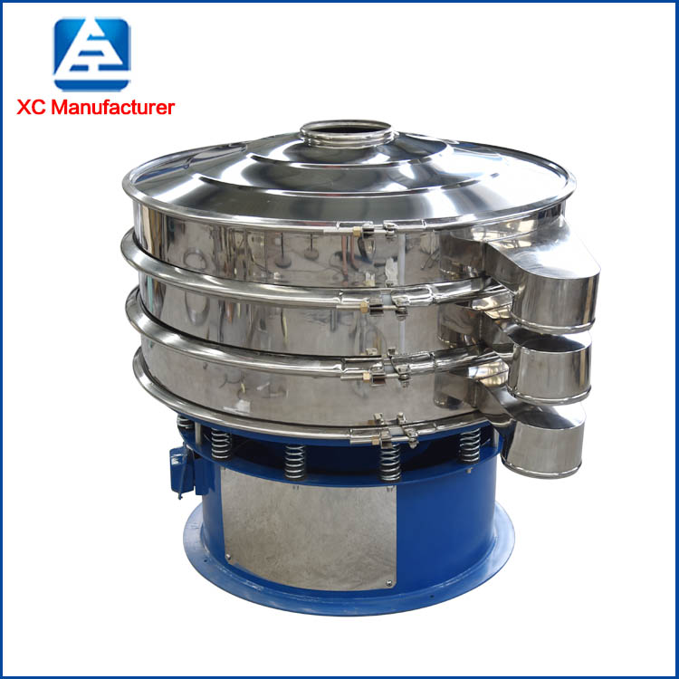 High frequency rotary vibro sieving screen sifter machine