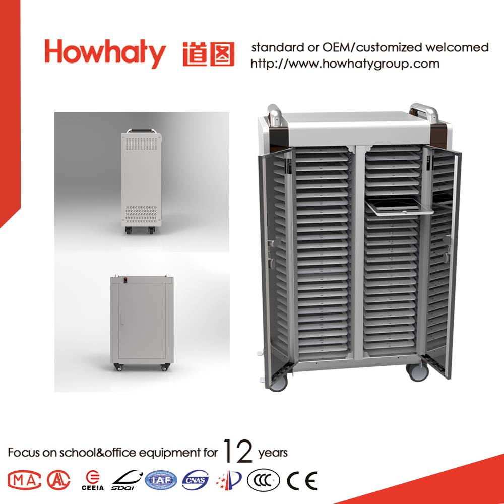 Tablet ipad storage charge charging cart in office furniture