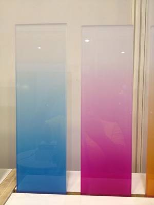 3-6mm high quality tinted decoration acid etched frosted glass