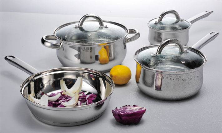 7pcs cookware set stainless steel cookware set