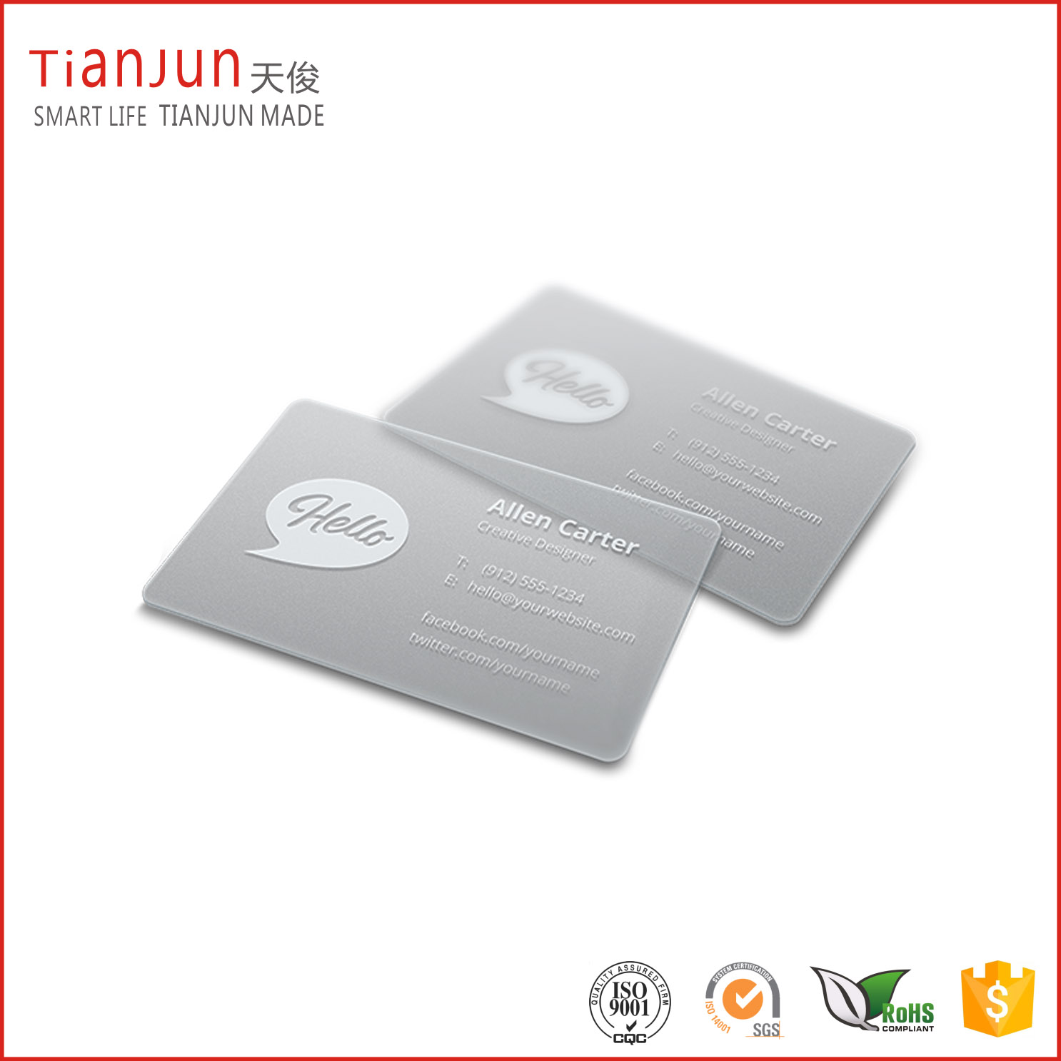 NTAG 213 Clear NFC Card