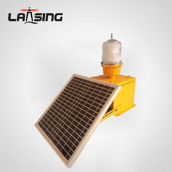 DLT10S ICAO Flashing Solar power aircraft warning lights, Aviation obstruction lamp for Windturbine