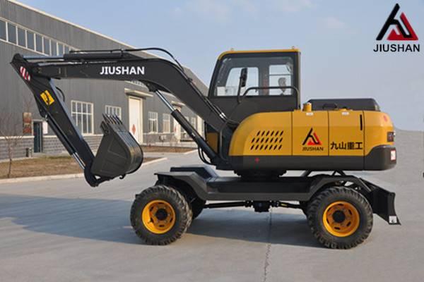 Mini Wheel hydraulic excavator JIUSHAN brand