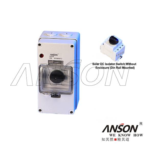 ASL4-004 Solar DC Isolator Switch With 4Pole Enclosure for Photovoltaic