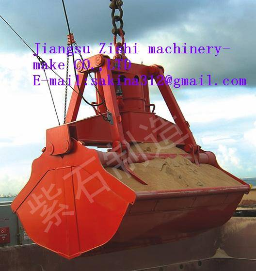 electric hydraulic double scoops grab