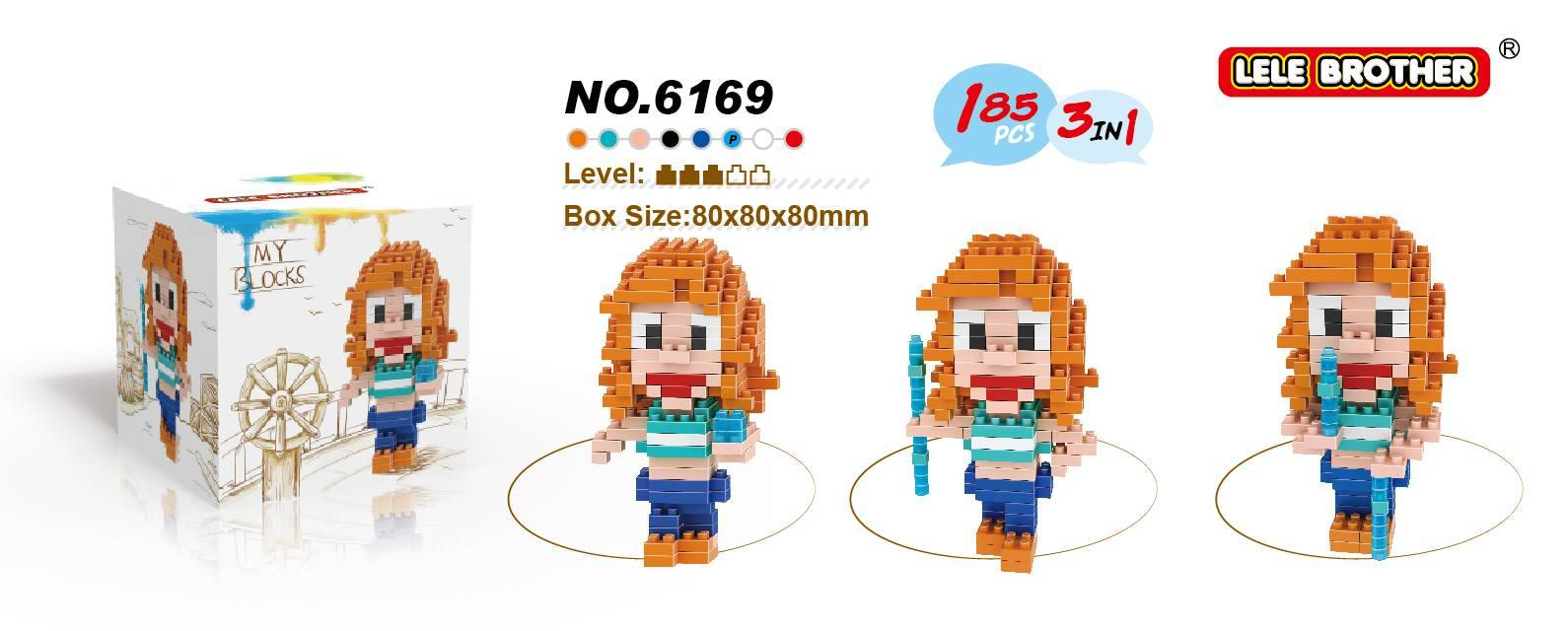 Lele Brother Diamond Block One Piece Series Nami New Item 2015