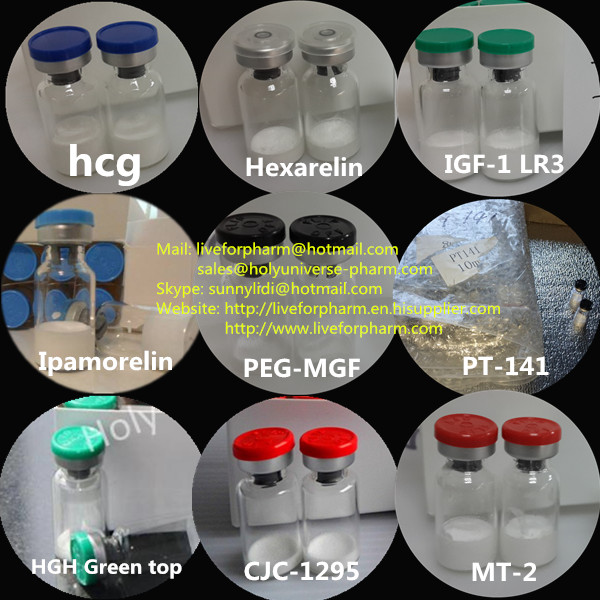 Pharmaceutical Peptides Powder Hexarelin for Medical Growth