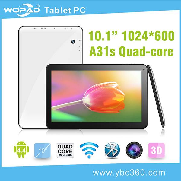 Cheap 10 inch tablet Android OS 4.4, A31s Quad-core, dual camera