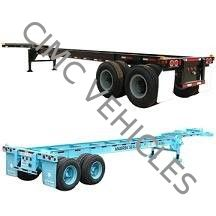 Two Axle Gooseneck Skeleton Semi-Trailer with Twist Lock