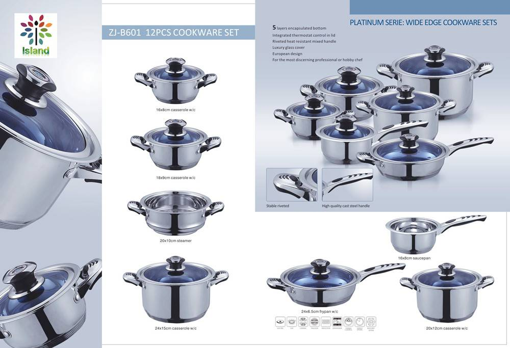 ZJ-B601  12PCS cookware Set
