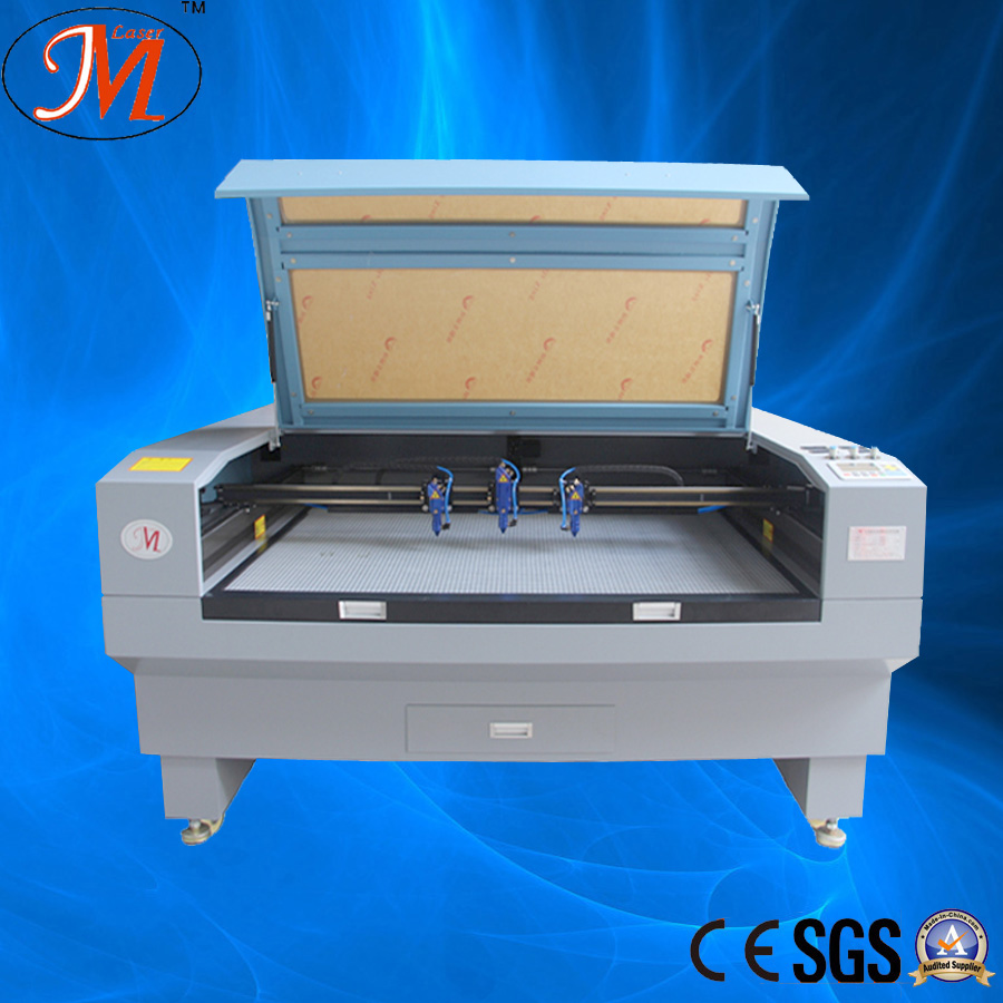 CO2 Laser and Three-Heads Cutting or Engraving Machine (JM-1280-3T)