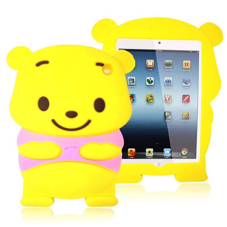 2013 New Design 3D Bear Silicone Case for Ipad Mini