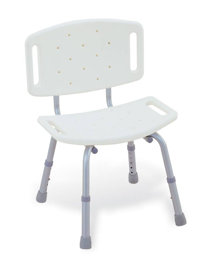 Bathroom Safety Aluminum Shower Chair with Back