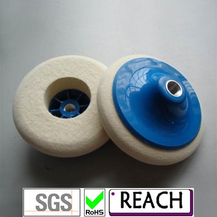 M14 fasterning wool polishing wheel with screw