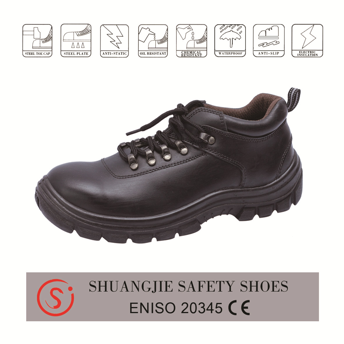 safety shoes work boots smooth leather pu outsole