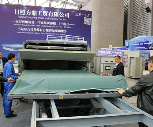 2016 Glasstec Fangding EVA laminated glass machine with CE certified
