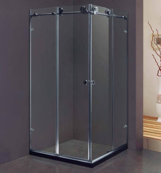 Frameless Stainless Steel Double Sliding Door Design Shower Enclosures (Kt8012)