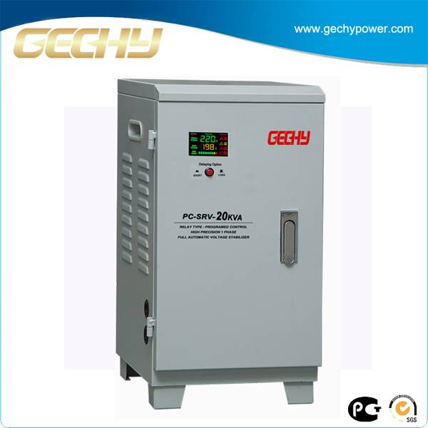 New Design High Precision LCD Disply 20KVA Single Phase Automatic 20KW Voltage Stabilizer