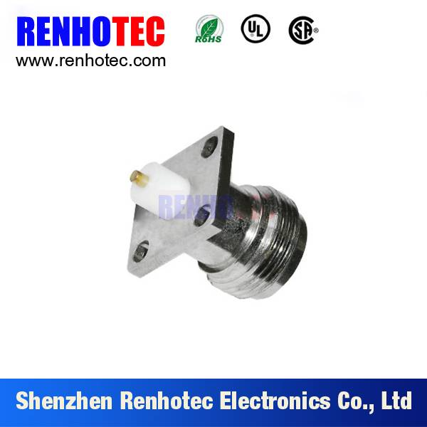 N Male RF Connector straight Flange Mount plug connector