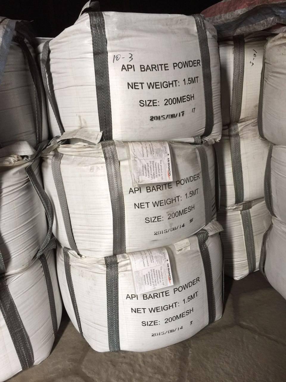 Drilling grade barite, chemical grade barite, white barite