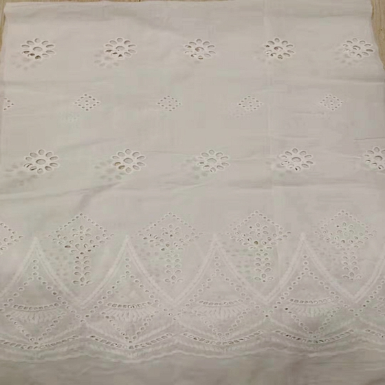 embroidered cotton voile fabric lace price