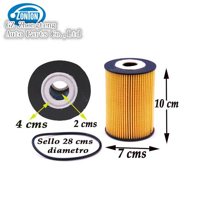 Nissan Car Parts Oil Filter with No. 15209-2W200