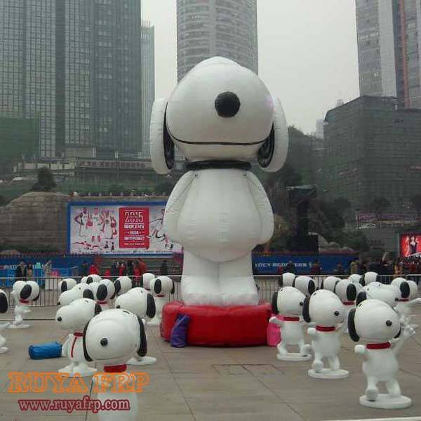 Snoopy cartoon statue,fiberglass crafts