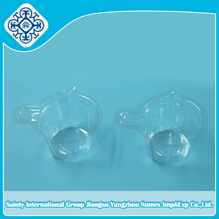 Transparent plastic sterile urine container, disposable PVC container made in China