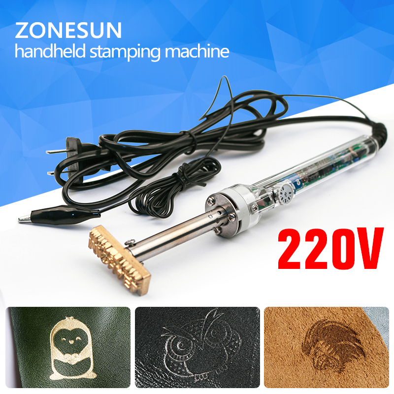220V/60W Handheld Brand Hot Stamping Machine and Cooled Leather Embossed LOGO Trademark
