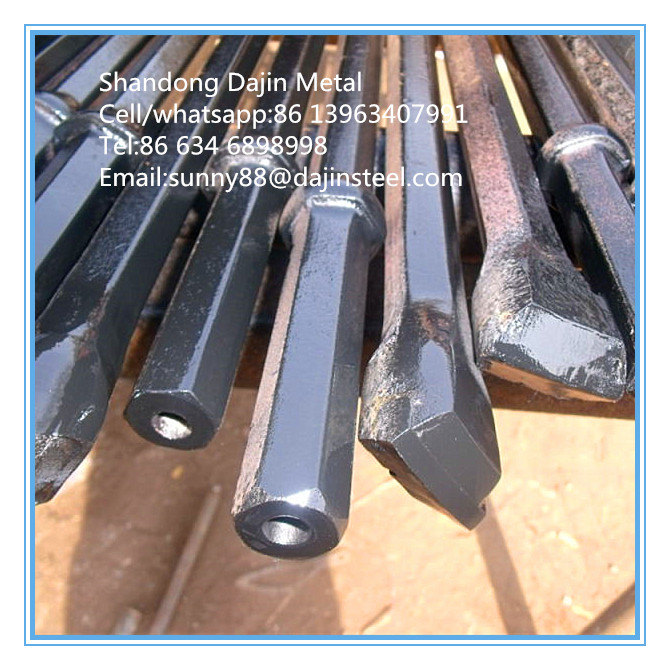B22 Tapered Drill Rod/Pipe for Quarry Rock Drilling