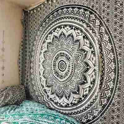 Large Mandala Indian Tapestry Wall Hanging Bohemian Beach Mat Polyester Thin Blanket Yoga Shawl Mat