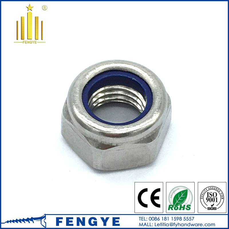 DIN985 Stainless steel hex nylon lock nut M8