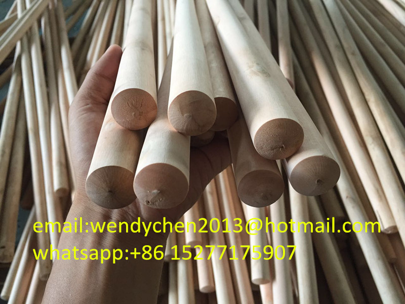 Natrual broom handle wood for house cleaning