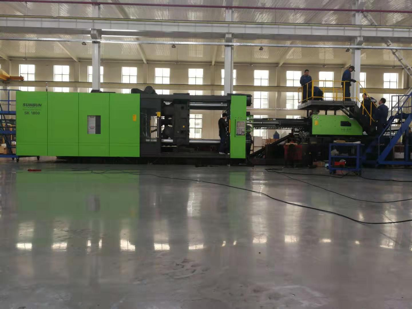 Sunbun China New and used horizontal type 2200T big material saving injection molding machine