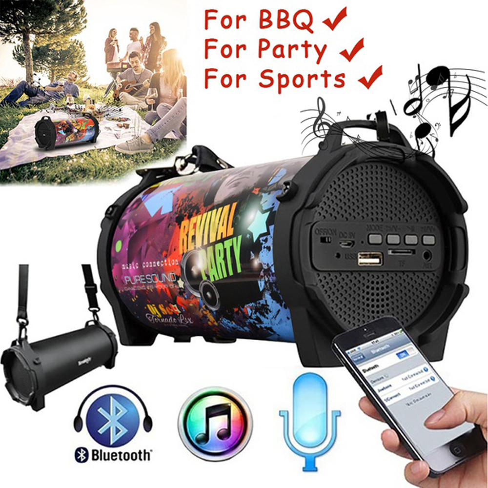 SL-10S Bluetooth Speaker Portable Outdoor Wireless Speakers With Carrying Strap Built In USB, TF Car