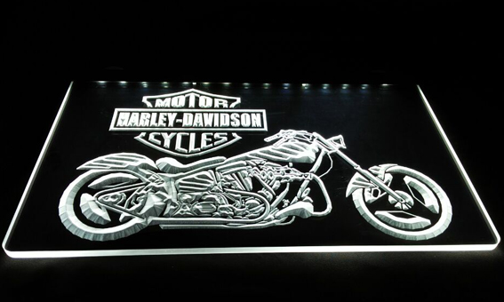LS609-w Motor Cycles Neon Light Sign