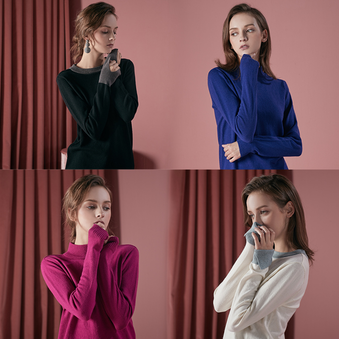 LADIES' PULLOVER KNITTED SWEATER