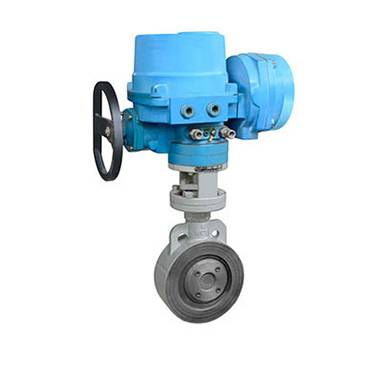 The wafer electric butterfly valve apply for power station