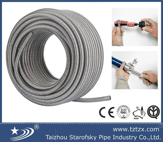 stainless steel flexible corrugated pipe hose