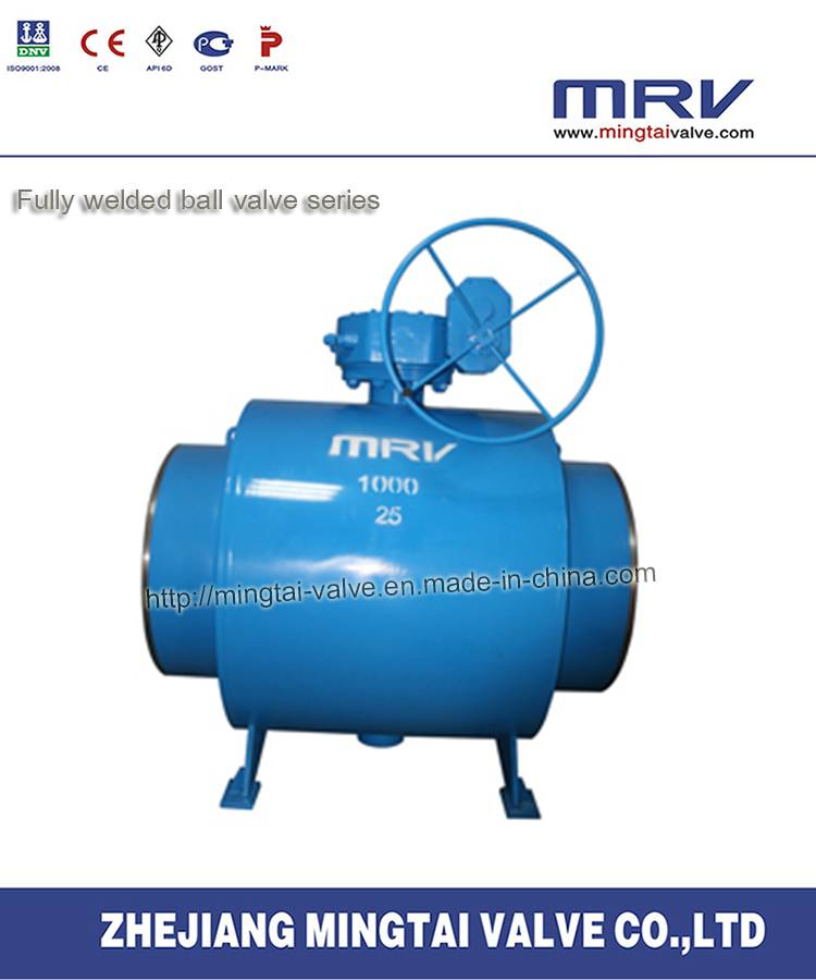 All Welded Turbine Actuator Ball Valve