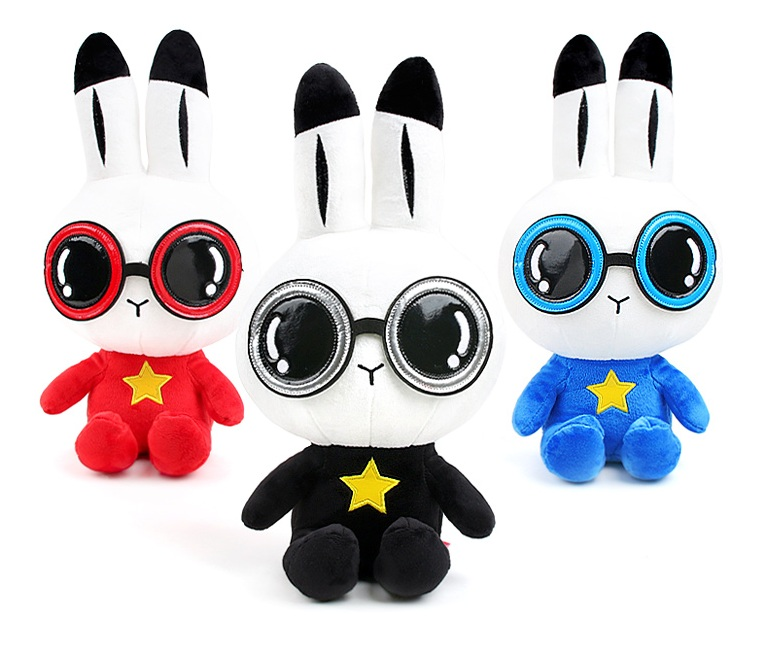 bunny plush toy with sunglasses