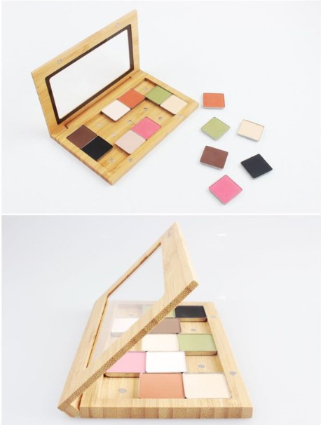 DIY Combination Nature Bamboo Eye Shadow Cases