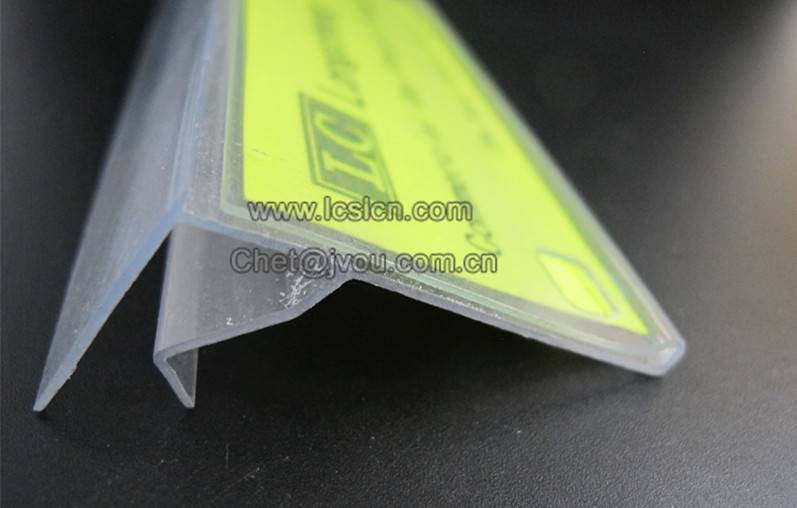 Supermarket shelf plastic label holder LC-225