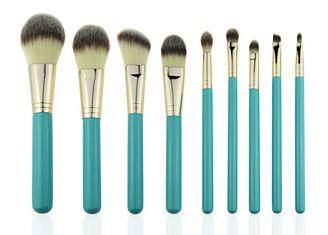 Eco Complete Natural Foundation Eye Makeup Brushes Professional Set 9pcs
