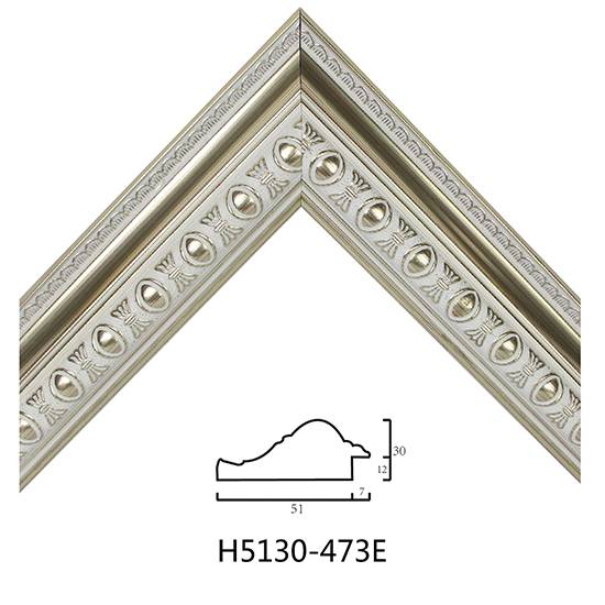 Wholesale European Style PS Mouldings White Embossed Decorative Molding H5130