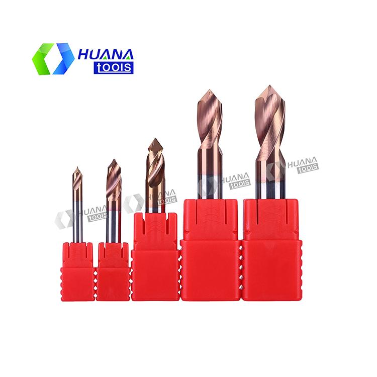 HN 55HRC Carbide Spot Drills for Steel and Aluminum